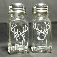 Engraved Salt Pepper Shakers