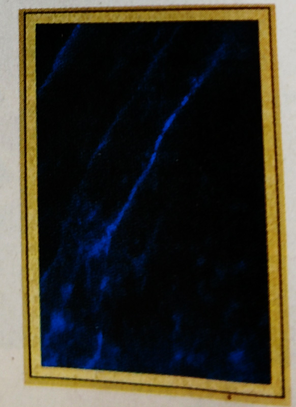 Engraved Plaque Blue Marble Plate