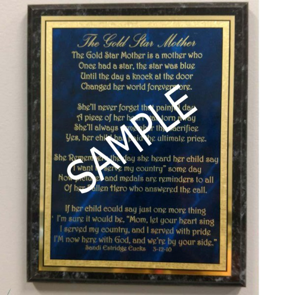 Custom Engraved Plaque Sample