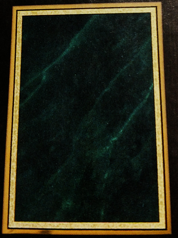 Engraved Plaque Green Marble Plate