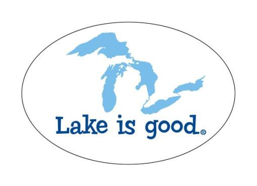 Lake Is Good Decal Great Lakes