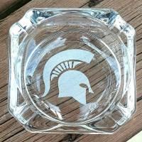 Engraved MSU Spartan Ashtray