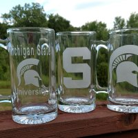 Engraved MSU Spartan Beer Mug Personalize
