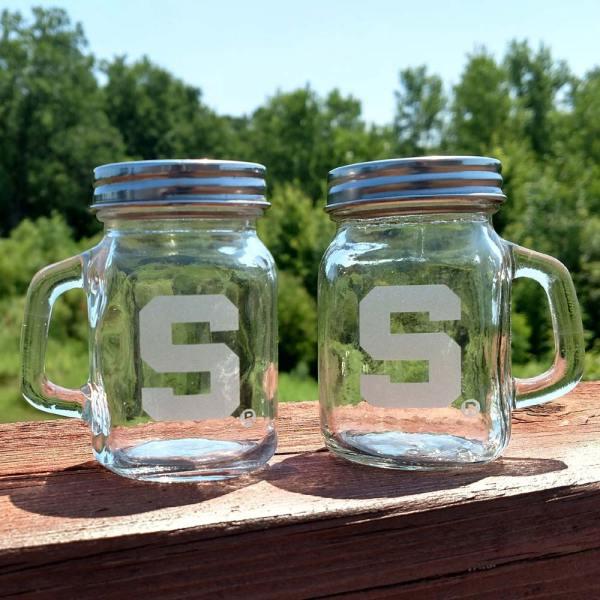 MSU Spartan Salt Pepper Mug Shaker