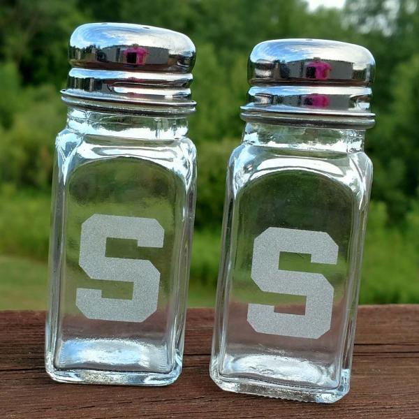 MSU Spartan Salt Pepper Shaker