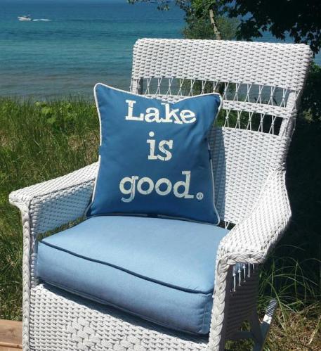 Nautical Blue Lake Is Good Pillow