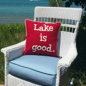 Nautical Red Lake Is Good Pillow