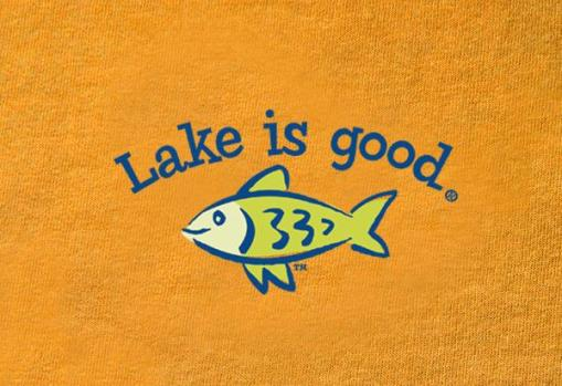 Lake is Good Orange with Fish
