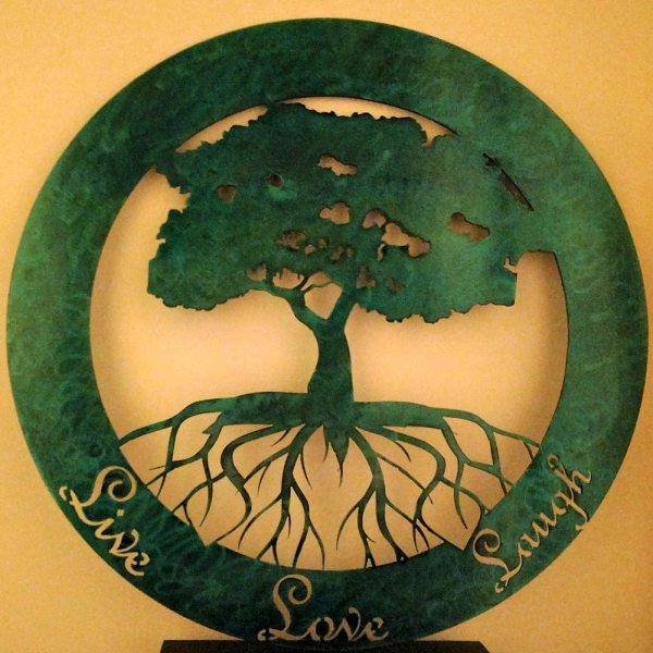 Tree of Life Live Love Laugh Metal Sign