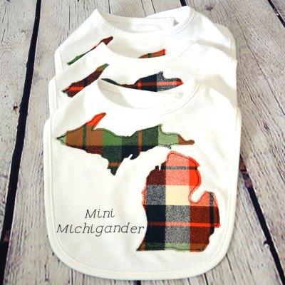 Baby Mini Michigander Bib