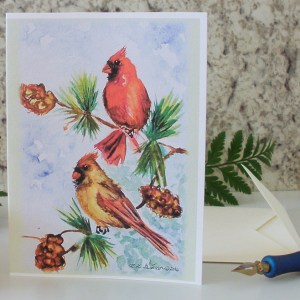 Cardinal Pair Greeting Card