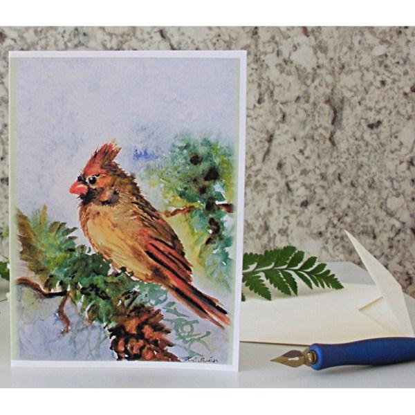 Lady Cardinal Greeting Card