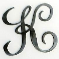 Metal Cursive Letter