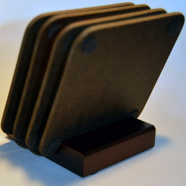 Hardboard Coaster Set Back