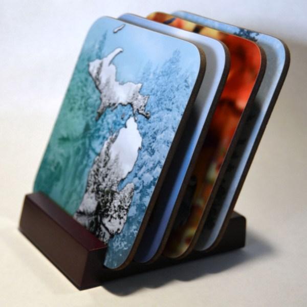 Hardboard Photo Coaster Set