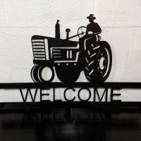 Welcome Tractor Metal Rack