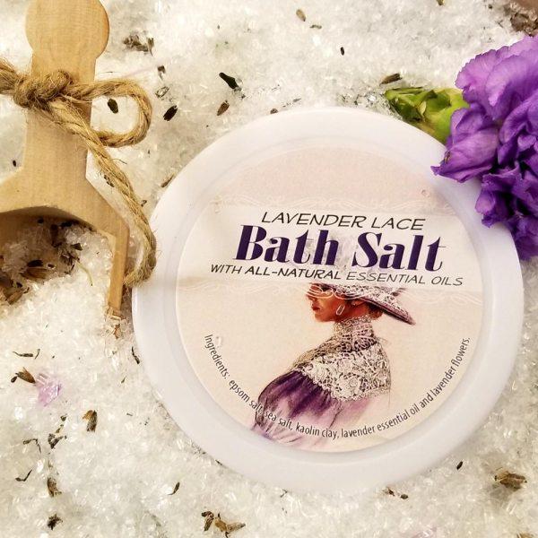 Lavender Lace Bath Salts All Natural