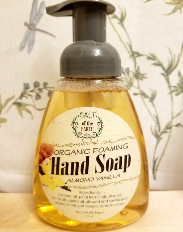 Almond Vanilla Organic Foaming Hand Soap Salt of the Earth