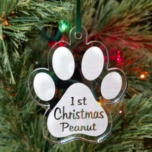 Personalized Puppy Paw Ornament