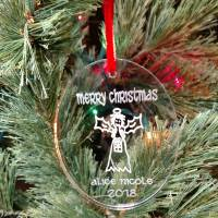 Personalized Whimsical Angel Ornament