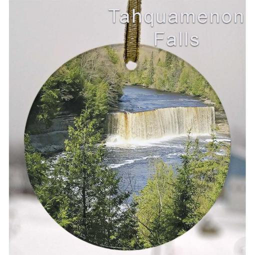 Glass Photo Suncatcher Ornament Taquamenon Falls