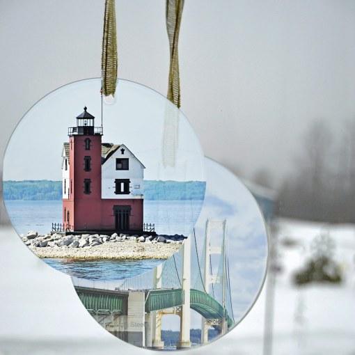 Glass Photo Suncatcher Ornament