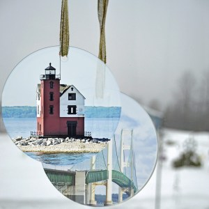Glass Photo Suncatcher Ornament