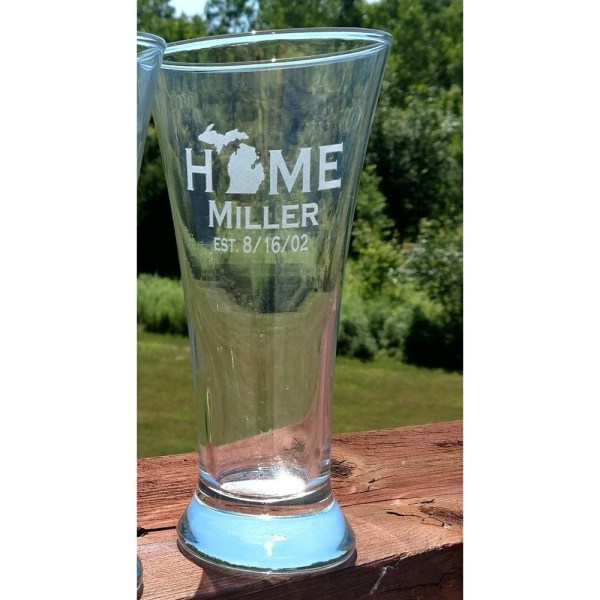 Michigan HOME Pilsner Glass