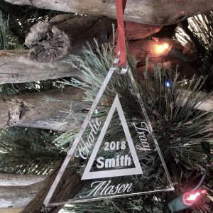 Personalized Family Ornament Custom Engraved 3 Names