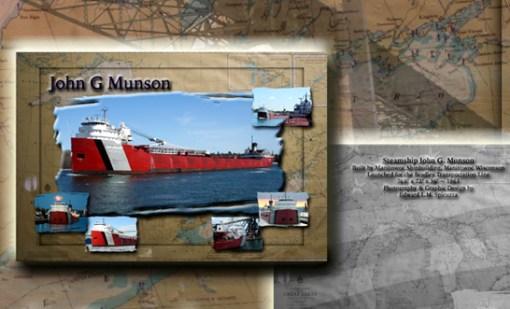 Nautical Postcard Set John G Munson Ship