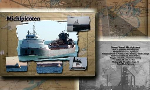 Nautical Postcard Set Michipicoten ship