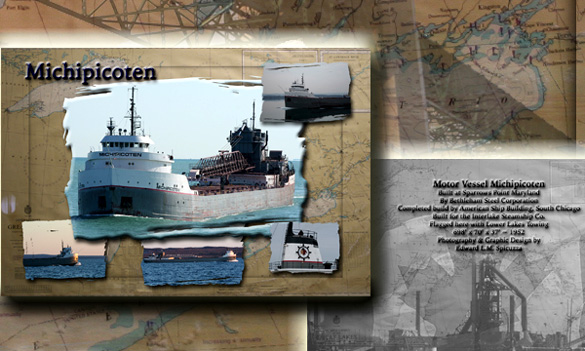 Nautical Postcard Set Michipicoten ship