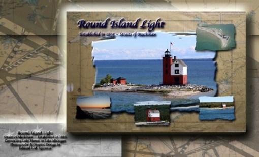 Nautical Postcard Set Round Island Lighthouse