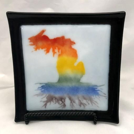 Michigan Roots Plate Rainbow