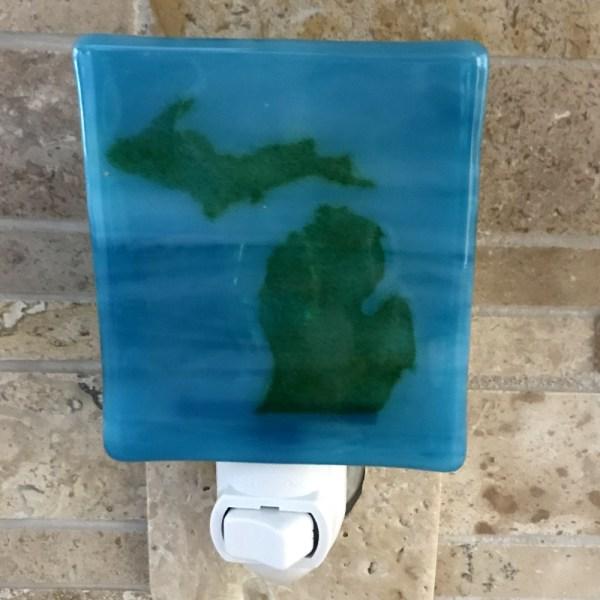 Michigan Nightlight Green Blue