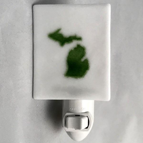 Michigan Nightlight White Green