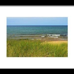 Beach Grass Print Lake Superior Beach