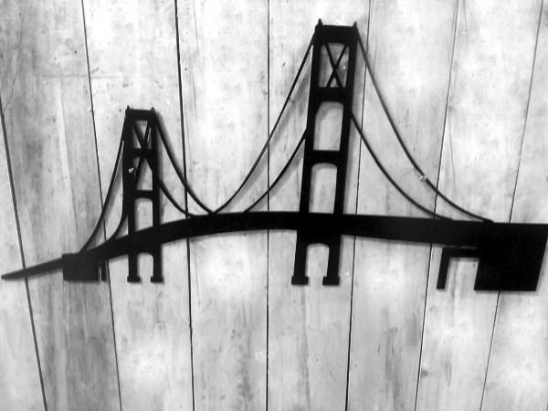 Metal Mackinac Bridge Wall Art
