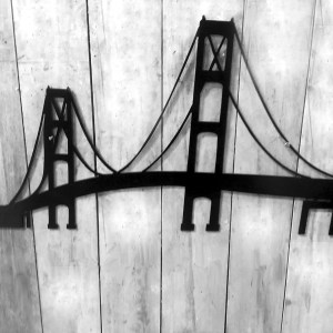 Metal Mackinac Bridge Wall Art