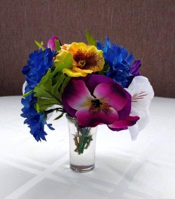 Glorious Mini Garden Silk Floral Arrangement