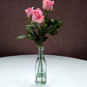 Romantic Pink Roses Silk Floral Arrangement