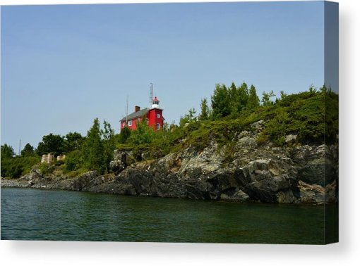 Marquette Michigan Lighthouse Canvas Print