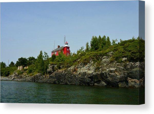 Marquette Michigan Lighthouse Canvas Print