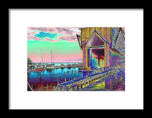 Morning Pink Marquette Ore Dock Print