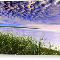 Rolling Blue Sky Over Lake Superior Canvas Print