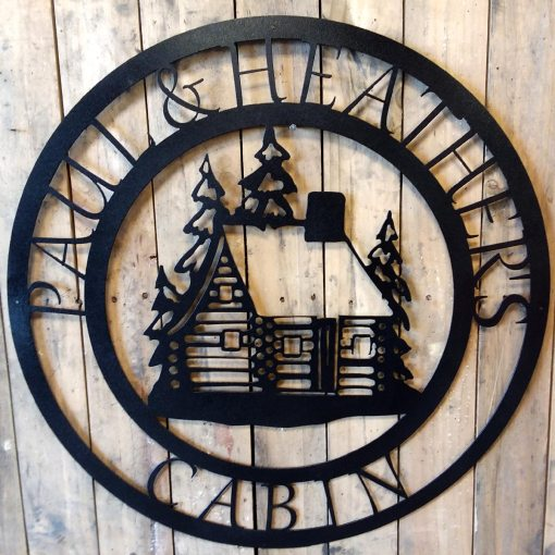 Personalized Metal Cabin Sign
