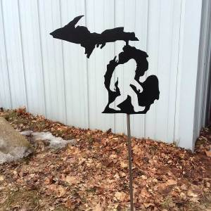 Michigan Bigfoot Yard Stake
