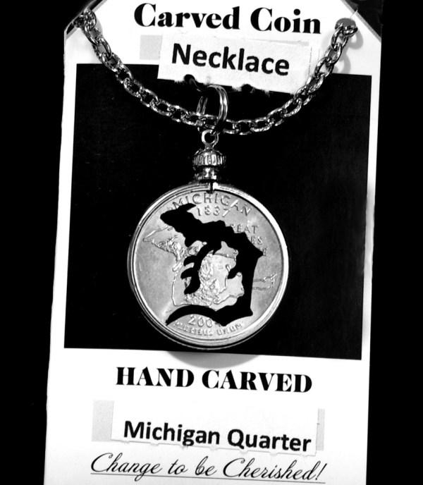 Detroit Tigers Quarter Necklace