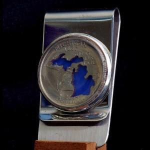 Michigan Quarter Money Clip