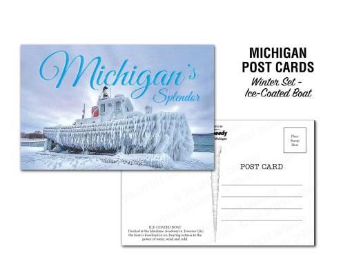 Ice Coated Boat Postcard